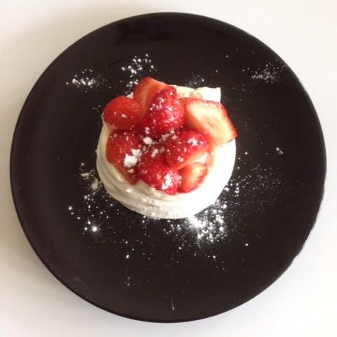 Delicious Strawberry & Basil Meringues