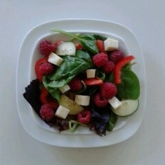 Raspberry & Rosemary Halloumi Salad