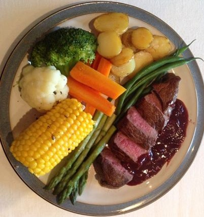 Venison with Blackcurrant & Thyme Jus